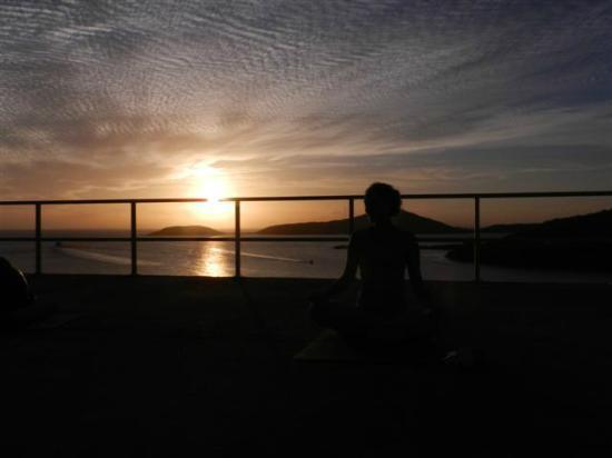 Culebra Yoga: Claire's Sunset yoga class  Culebra, Puerto Rico March 2012