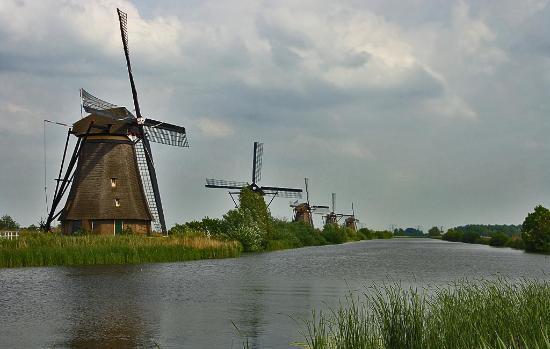 Kinderdijk, The Netherlands: The mills
