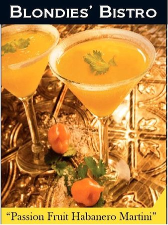Blondies' Bistro: The Passion Fruit Habanero Martini