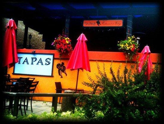 Tapas Restaurant in the summer