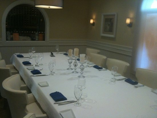 Courtside Steakhouse: The private dining room