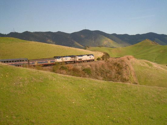 Coast Starlight: North bound near San Luis Obispo