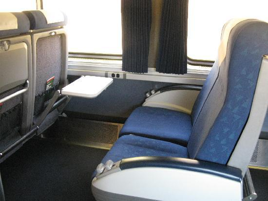 New Carriage Seat ~ Parlor car picture of coast starlight california