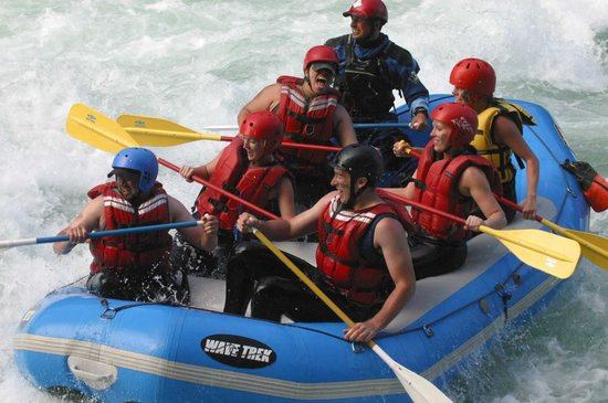 Outdoor Adventures Center - Day Tours: Rafting Excitement near Boulder Drop Rapids on the Skykomish River