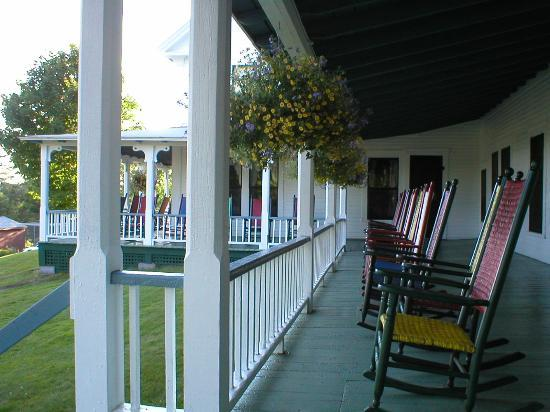 Twin Lake Village: Front Porch of Hotel