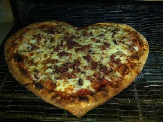 Boca's Best Pizza Bar: Valentine's Day Heart Shaped Pizzas