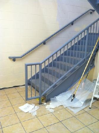 Days Inn Brewerton/Syracuse Near Oneida Lake: stairway to our room