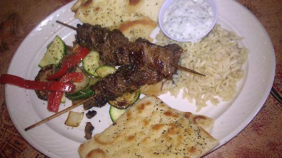 Pita Paradise: lamb kebabs