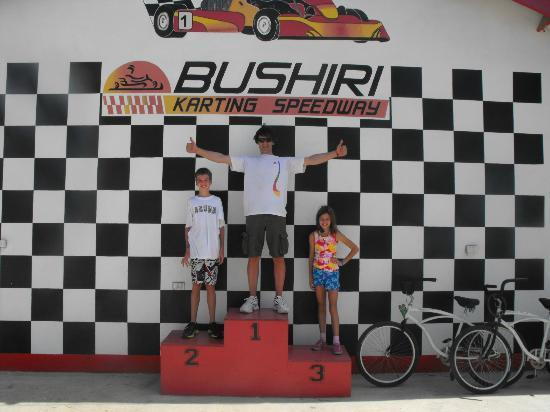 Bushiri Karting Speedway: The podium