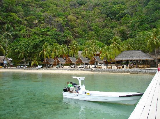 El Nido Resorts Miniloc Island: The restaurant, bar etc