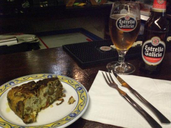 Restaurante Sanabres : tortilla de patatas con setas