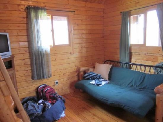 Gander Island Cabins: The futon