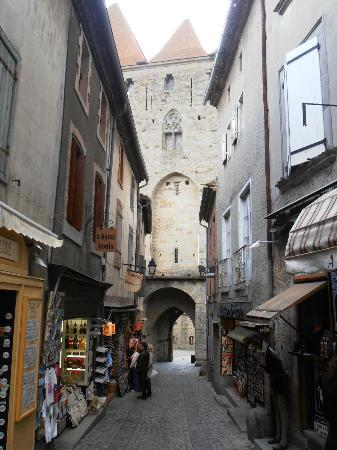 typical street view Picture of Carcassonne Medieval City