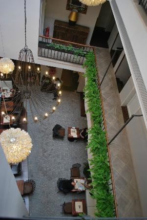 Hotel Residence Agnes: salle à manger vu depuis le 3ème étage