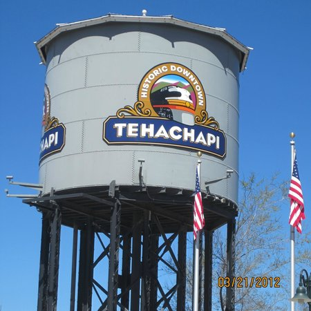 Tehachapi, CA: Watertower next to Railroad Museum