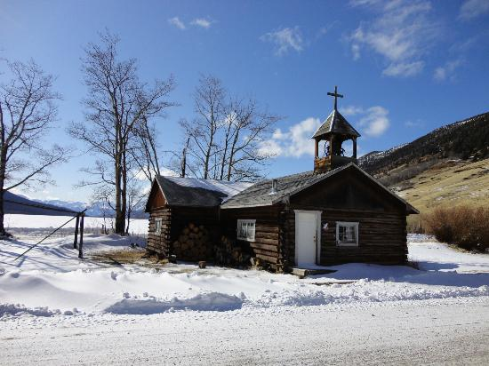 Snowy Mountain Outfit : Nearby church