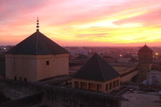 Riad Palais Didi: vue de la terrasse