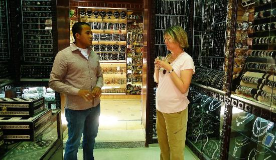Amr of Mara House taking us into the Luxor souk to shop
