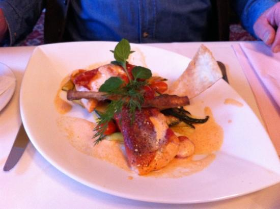 Seehotel Ecktannen: Lachs Saltimbocca im Hotelrestaurant