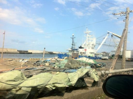 Choshi Fishing Port: 風は強かったけど、良い気晴らしになります。