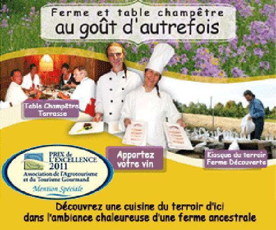 Au goût d'autrefois : Gagnant du prix de l'Excellence québécois 2011