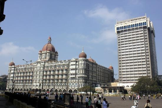 The Taj Mahal Palace: The original building with the tower on the right
