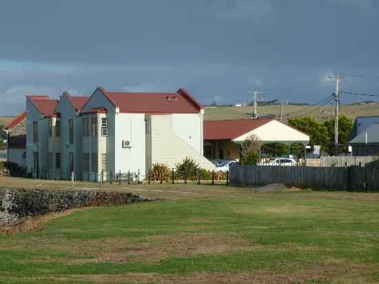 Stanley Village Waterfront Accommodation: The Motel from the seaward side