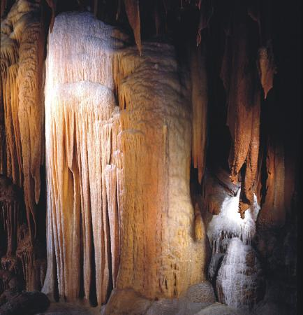 "Shenandoah Caverns, VA: ""Diamond Cascade"" formation"