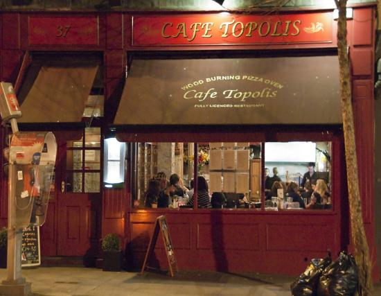 Front View of Cafe Topolis