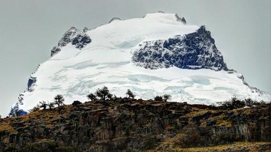 El Puesto Sur: Telephoto shot of Cerro Solo from cabin