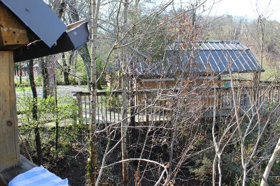 Riveredge RV Park : View of caming cabin on hill