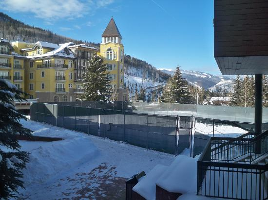 The Vail Spa Condominiums: View out the window--Ritz Carlton.