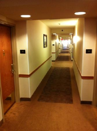 Prairie Knights Casino & Resort: Hotel Hallway in new wing.