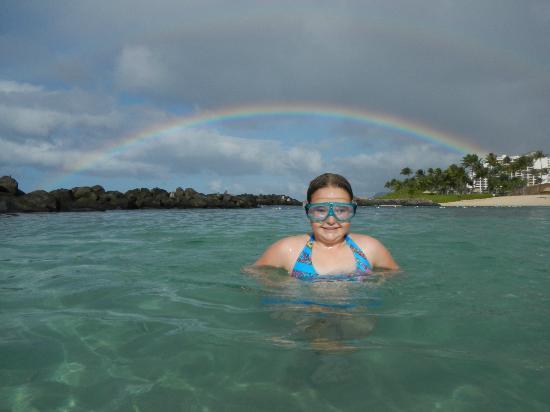 Marriott Ko Olina Beach Club: Another sunset while swimming!