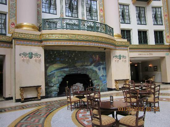 Rookwood fireplace in Atrium - Picture of West Baden Springs Hotel ...