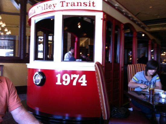 Old Spaghetti Factory : The trolley in our dining room