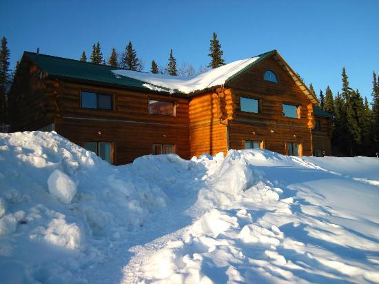 A Taste of Alaska Lodge: a real log cabin lodge