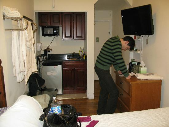 Hotel 309: vue du coin cuisine
