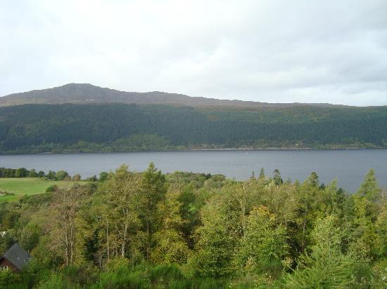 Lodges on Loch Ness: view
