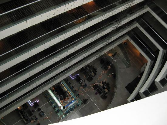 Radisson Blu Hotel Bucharest: view through floors