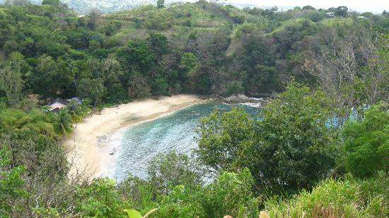 Arnos Vale Reef : View of Arnos Vale Beach/Reef from the lookout nearby