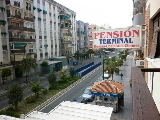 Pension Terminal: view from balcony