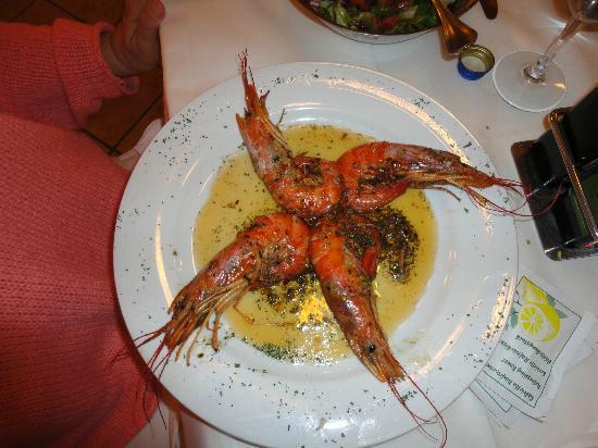 Ristorante Casalta: yummy prawns