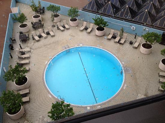 Omni Charlotte Hotel View Of Pool From Our Room
