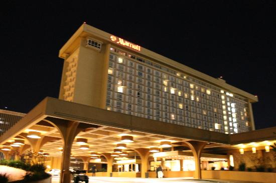 Los Angeles Airport Marriott View Of The Hotel At Night