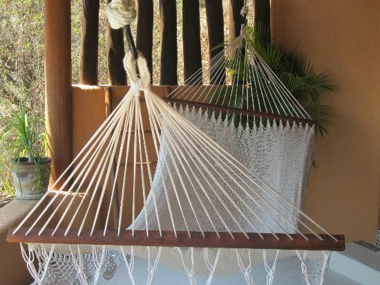 Hotel Cinco Sentidos: I spent countless hours on this hammock during our stay.