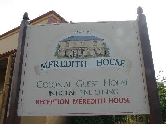Meredith House and Mews: the sign