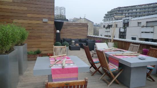 La Maison de Claire: la terrasse