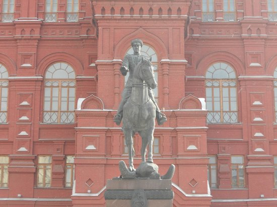 Monument to Marshal Zhukov
