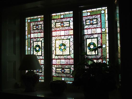 Moryd Restaurant, Mansion House Llansteffan: another beautiful window